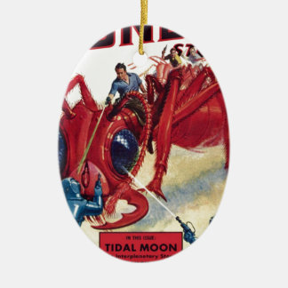 Riesige rote Ameise Ovales Keramik Ornament