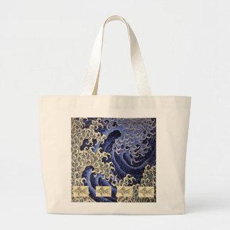Riesige Tasche mit JAPANER-WELLE UND FISCHEN