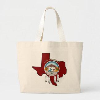 Riesige Taschen-Tasche Stammes- Schild-Texas Jumbo Stoffbeutel