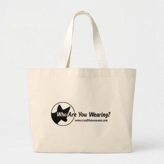 Riesige Taschen-Tasche (wer Sie tragend? sind) Jumbo Stoffbeutel