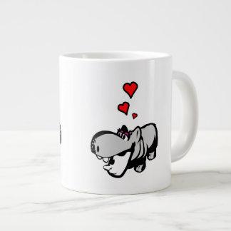 Riesige Tasse - Flusspferd in der Liebe - Nilpferd Jumbo-Tassen