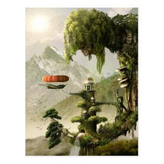Riesige Weide-Fantasie-Postkarte Postkarte