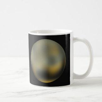 Riesiger Ball Pluto-Planeten im Himmel Kaffeetasse