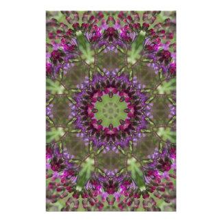 Riesiger Ironweed, Wildblume-Kaleidoskop Briefpapier