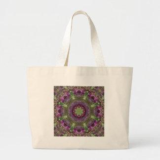 Riesiger Ironweed, Wildblume-Kaleidoskop Jumbo Stoffbeutel
