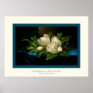 Riesiger Magnolias~ Martin Johnson Heade Plakatdruck