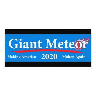 Riesiger Meteor 2020 machenamerika flüssig wieder 10,2 X 23,5 Cm Einladungskarte