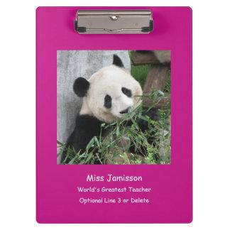 Riesiger Panda, der bestste Lehrer der Welt, Klemmbrett