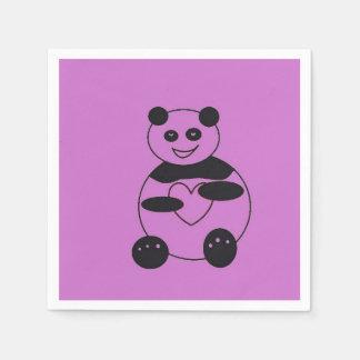 Riesiger Panda in der Papierserviette