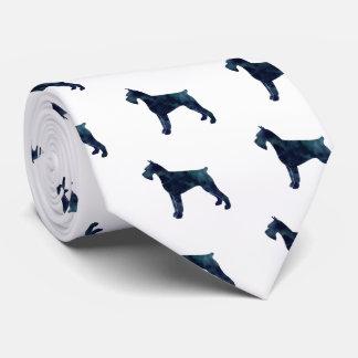 Riesiger Schnauzer-geometrische Muster-Silhouette Krawatten