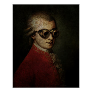 Riesiger Steampunk Mozart Poster