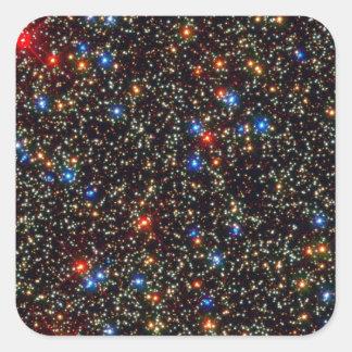 Riesiger Sternhaufen Omegas centauri Quadratischer Aufkleber