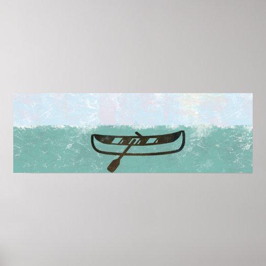 Riesiges Fischer-Boots-Seedämmerungs-Plakat Poster
