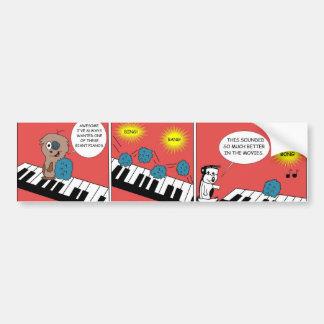 Riesiges Klavier Autoaufkleber