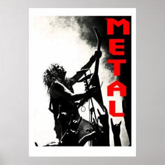 RIESIGES METALLplakat Poster