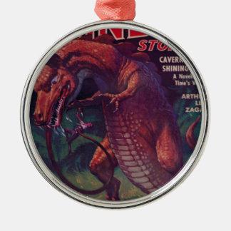 Riesiges Reptil Silbernes Ornament
