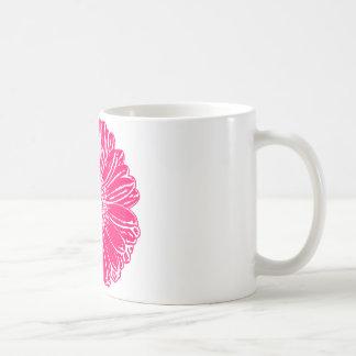 Riesiges rosa Gerbera-Gänseblümchen Kaffeetasse