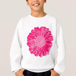 Riesiges rosa Gerbera-Gänseblümchen Sweatshirt