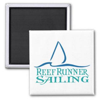 Riff-Läufer-Segeln-Quadratmagnet Quadratischer Magnet