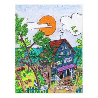 Riff-Segelflugzeugpostkarte Postkarte