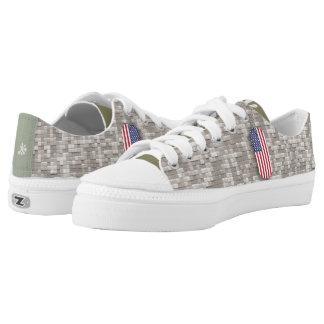 #rigged, nyc™ Amerikona - Digital-Armee-Camouflage Niedrig-geschnittene Sneaker