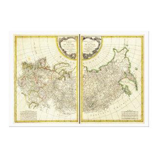 Rigobert Bonne Karte 1771 von Russland Leinwanddruck