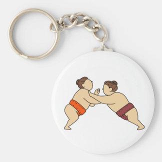 Rikishi Sumo-Ringkämpfer, der Seitenmonolinie Schlüsselanhänger