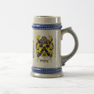 Riley-Familien-Wappen Stein Bierglas