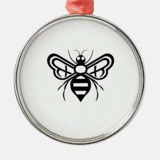 Riley-Morgen-Bienen-Logo Rundes Silberfarbenes Ornament