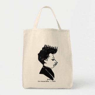 Rilke Karikatur Einkaufstasche