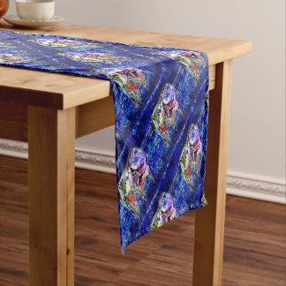 Rinderartiges Tier im Blau Kurzer Tischläufer