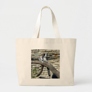Ring-angebundener Lemur Jumbo Stoffbeutel