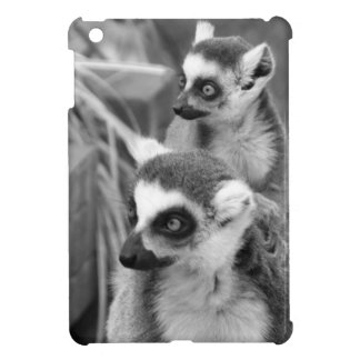 Ring-angebundener Lemur mit dem Baby Schwarzweiss iPad Mini Hülle