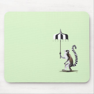Ring angebundener Lemur Mousepad