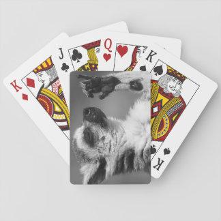 Ring angebundenes Lemur-Spielen Spielkarten