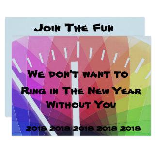 Ring in der neues Jahr-Einladung Einladung