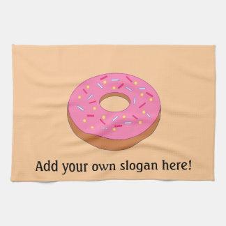Ring-Krapfen-Grafik- addieren Sie einen Slogan, um Küchentuch