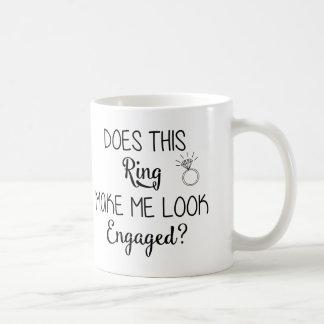 Ring lassen mich verlobte Tasse schauen