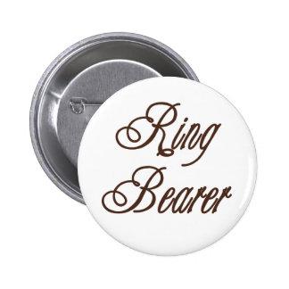 Ring-Träger-nobles Braun Runder Button 5,7 Cm