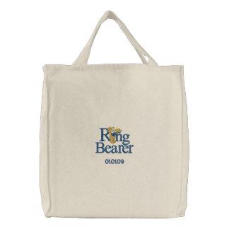 Ring-Träger-Teddybär Bestickte Tasche
