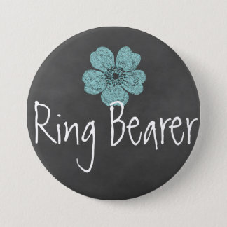 Ring-Träger-wilde aquamarine Rosen-Tafel Runder Button 7,6 Cm