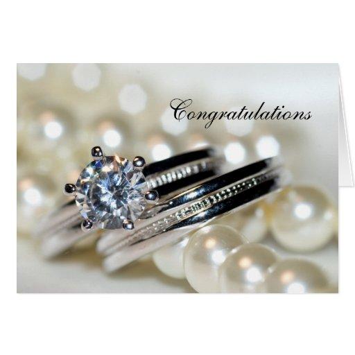 Ringe und Perlen, die Glückwunsch-Karte Wedding si
