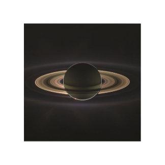 Ringe von Saturn Holzdruck