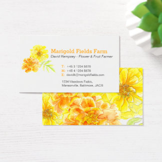 Ringelblumen-Bauers-/-Blumenzüchtergeschäftskarten Visitenkarte