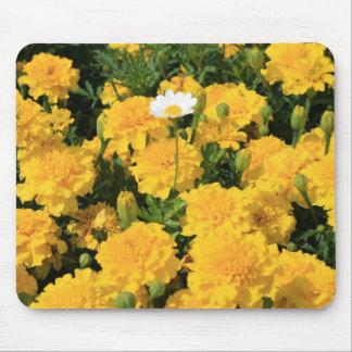 Ringelblumen-Blumen und eine Gänseblümchen-Blume Mauspads
