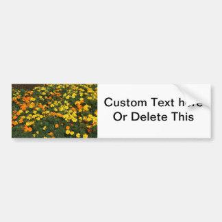 Ringelblumen-Blumenfeld-Blumenentwurf des orange Autoaufkleber