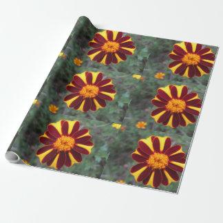 Ringelblumen-Samt-reiches Rot-Gelb-Blume Geschenkpapier