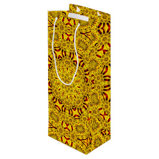 Ringelblumen-Vintage Kaleidoskop-Wein-Taschen Geschenktüte Für Weinflaschen