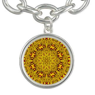 Ringelblumen-Vintages Muster-Charme-Armband Armband