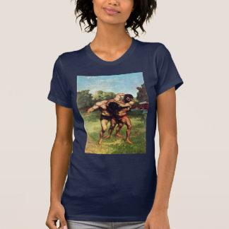 Ringkämpfer durch Courbet Gustave T-Shirt